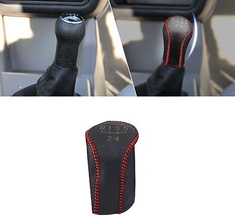 DYBANP Pommeau de Levier de Vitesses pour VW Passat B5 1999-2004 kit de gu/être de Bouton de Changement de Vitesse de Voiture /à 5 Vitesses avec Cache-poussi/ère en Cuir Accessoires