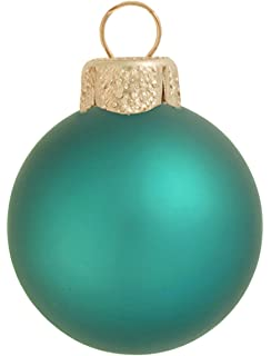 40ct matte teal green glass ball christmas ornaments 125