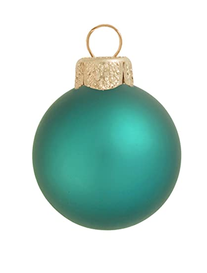 8ct matte teal green glass ball christmas ornaments 325 - Teal Christmas Ornaments