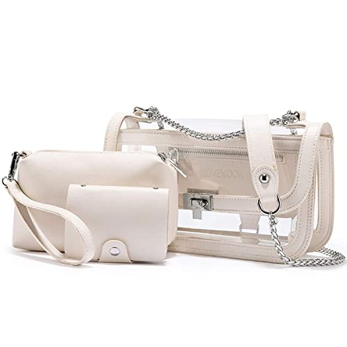 Amazon.com: Ashley-OU Bolsas transparentes de PVC bolsa ...