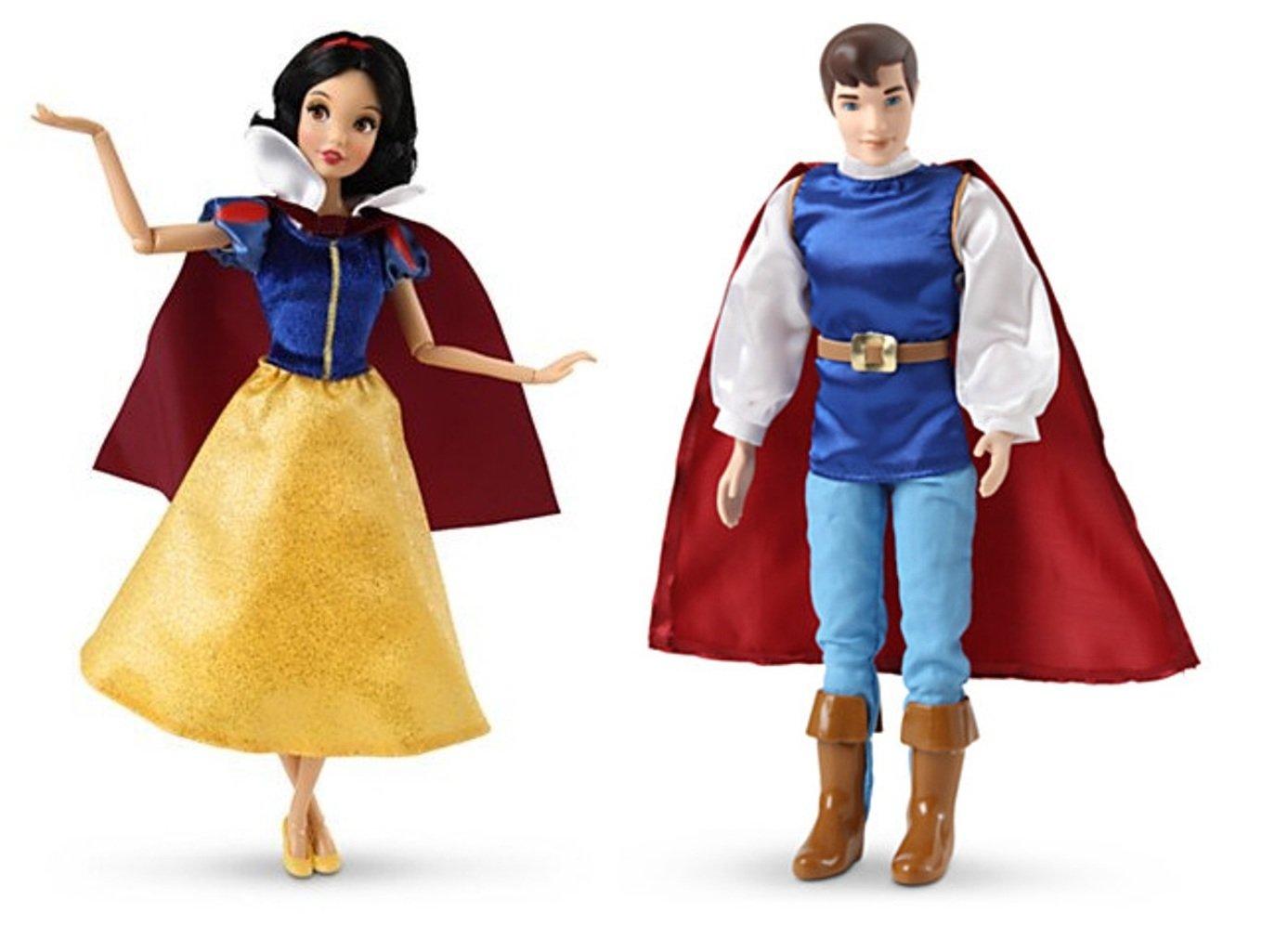 Disney Store Princess Snow White /& The Prince Classic Doll Set NIB