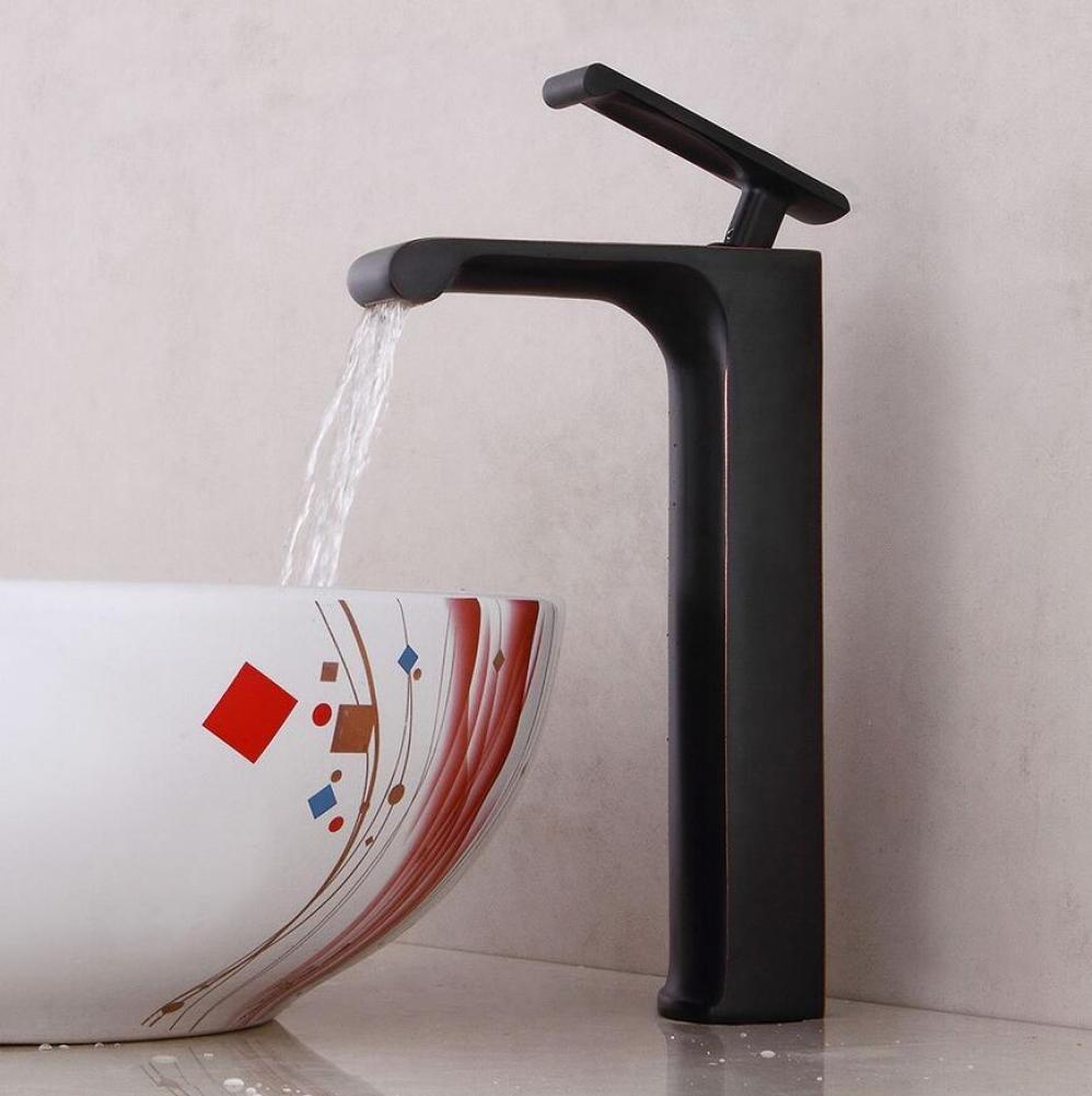 GUHAIBO schwarz Upscale Becken Mischbatterie Mischbatterie Mischbatterie Einhand Kreativität Badezimmer Waschbecken Wasserhahn Kupfer Heißer und kalter Wasserhahn 998284