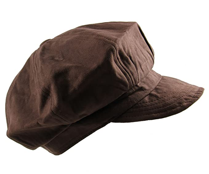 96120ec4fb889 NY Suede Newsboy Cap (Brown) at Amazon Men s Clothing store