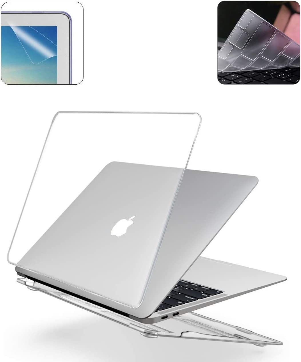 2019 Release New 16 Inch MacBook Pro A2141 Hard Case Pack with Plastic Hard Shell, Keyboard Cover & Screen Protector - Crystal Clear