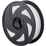 3D Printer Filaments - 1.75 mm PLA Filament, Low Odor High Precision 3D Printing Filament, 2.2 lbs / 1kg Spool 3D Printer Filament for Most 3D Printers & 3D Pens (White)
