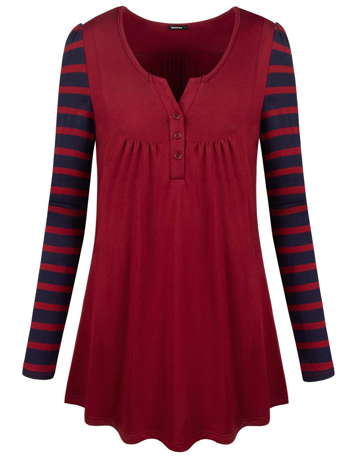 Altelime Dressy Tunic Tops For Women Female Shirts And Blouses