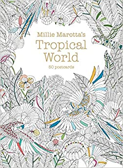 Millie Marottas Tropical World Postcard Box 50 Postcards A Marotta Adult Coloring Book