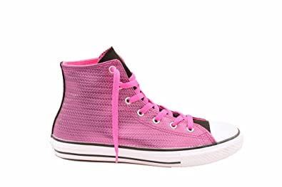 8681b676a91e75 Converse Chuck Taylor All Star Shine Hi Kids Trainer Pink - US 5.5
