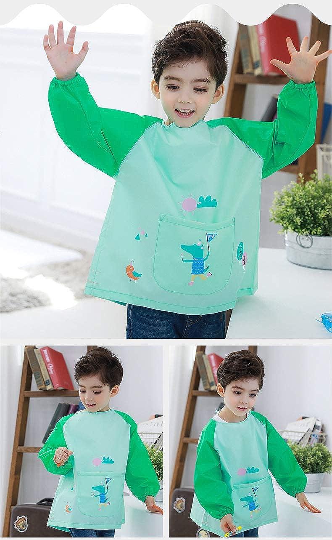 Hosim Kids Waterproof Art Aprons Children Painting Smock Washable
