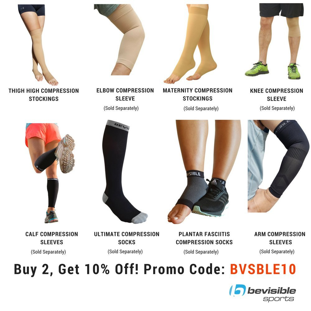 e49b0d115d50af Amazon.com: BeVisible Sports Compression Stockings Thigh High Open Toe  Socks 20-30 mmHg Best Support For Varicose Veins, Maternity, Travel &  Everyday Use ...