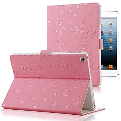 iPad 9.7 2017/2018 Case,Cute Hello Kitty Pattern Smart Cover Case for Apple iPad Air 1 / Air 2 / iPad 5th / 6th Generation Tablet Protective Shell ...