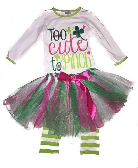 6663d950c43d9 Infantile Shop St. Patrick s Day Baby Toddler Girl Legging Set Too Cute to