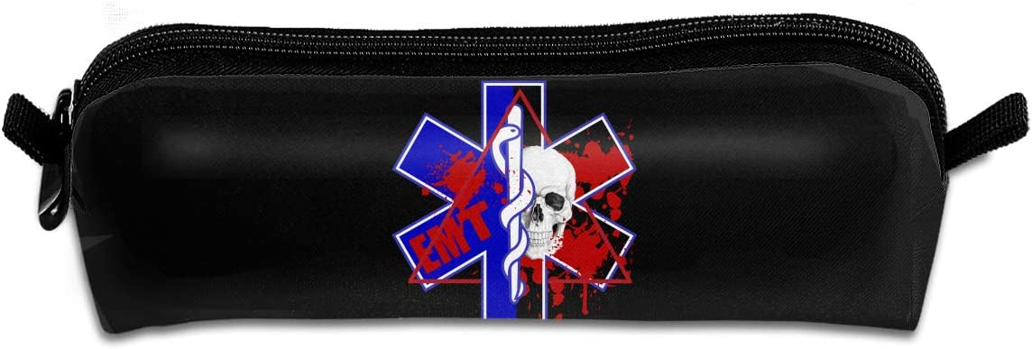 EMT Cartel de enfermería paramédico calavera bolígrafo estuche con cremallera bolsa de almacenamiento: Amazon.es: Hogar