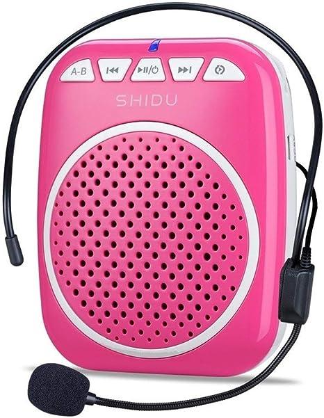 Amplificador de Voz portatil (W) con un microfono para guías Maestros Profesores Artistas animadores promotores de Ventas,etc (Color : Pink): Amazon.es: Instrumentos musicales