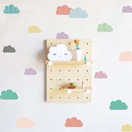 Wall Sticker Blumway Kawaii Colorful Cloud Wallpaper Vinyl Decal Mural Kids Room Decor Paper Sheet Baby Nursery Room Set