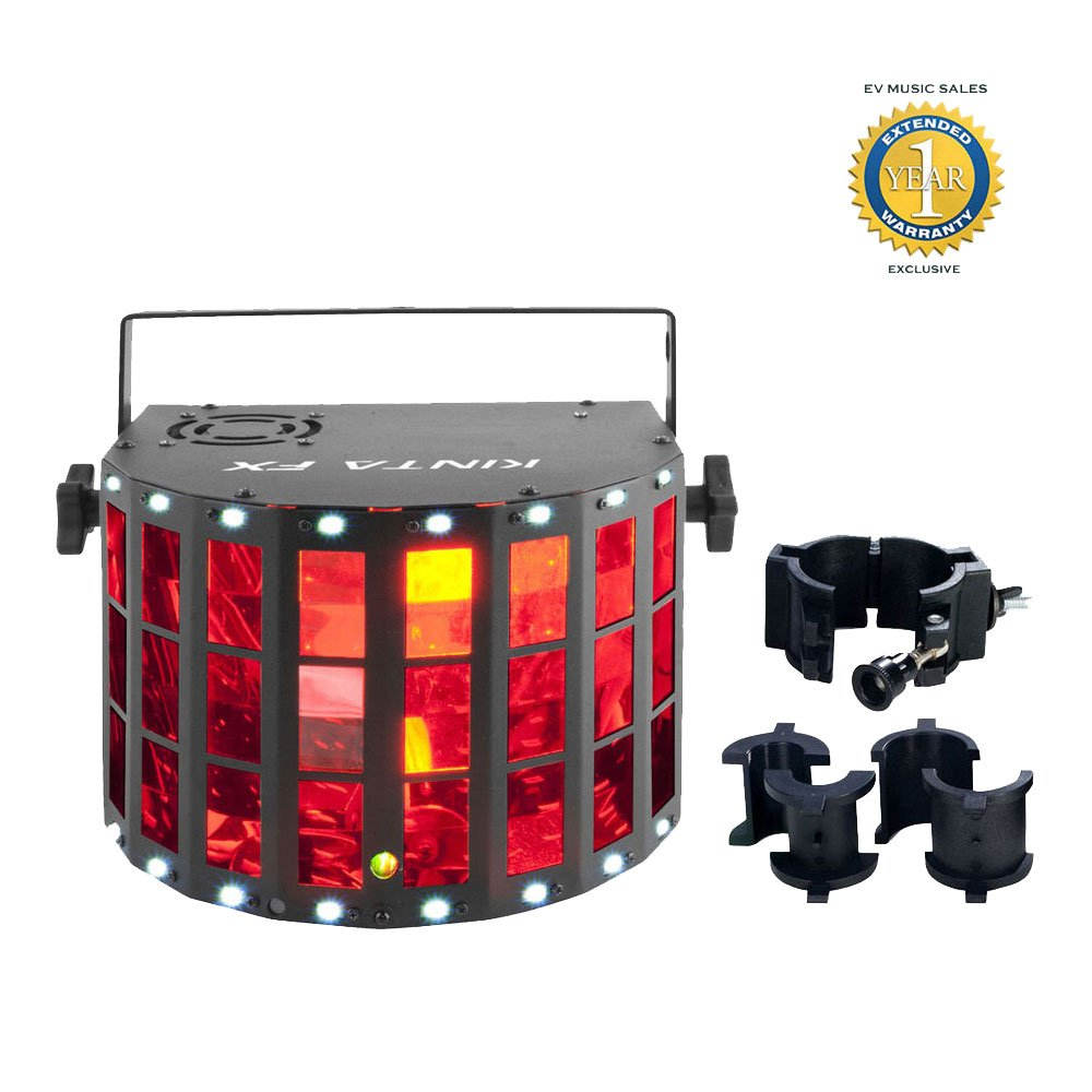 Chauvet Kinta FX 3-in-1 LED Multi-effects Fixture and CLP-10 Clamp Bundle with 1 Year Free Extended Warranty