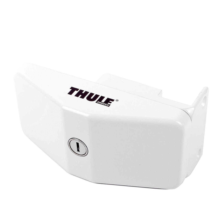 Diebstahlsicherung, Türverriegelung für Wohnwagen & Wohnmobil, Stahl, 8x17x6 cm, Weiß Thul
