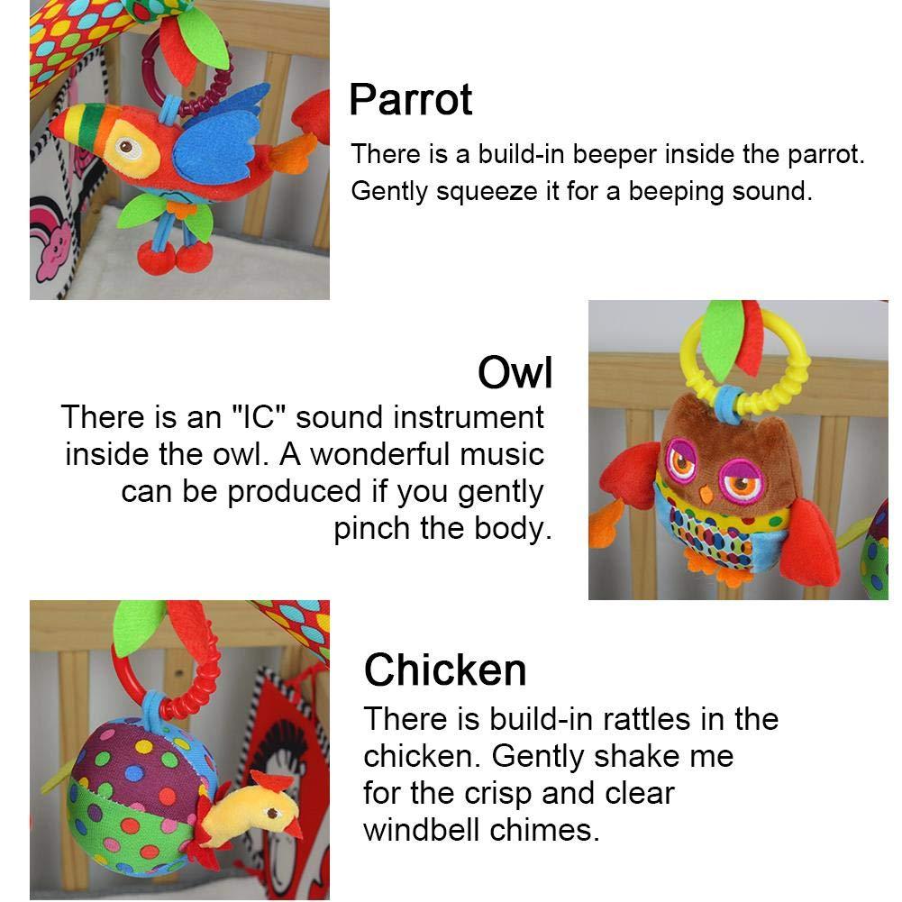 Juguete del cochecito musical del bebé para la forma infantil de la muñeca de la felpa colgante envolver alrededor de cuna cama cuna: Amazon.es: Bebé