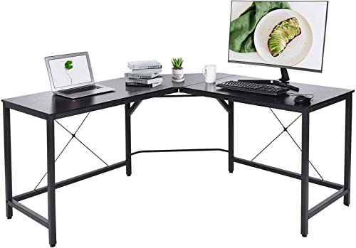 Modern L Shaped Computer Desk,59″x59″x30″ Corner Computer Desk,Office Desk Computer Table,PC Laptop Study Table Workstation