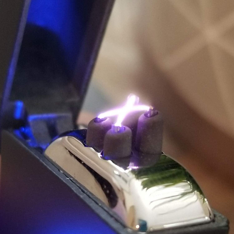 USB Briquet briquets /électroniques SPPARX Briquet Arc /électrique Double Arc Beam c/âble USB Inclus USB Rechargeable Coupe-Vent /él/égant Coffret Cadeau