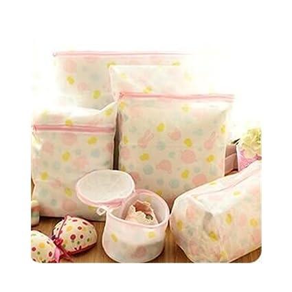 Bolsas para ropa lavandería S Kaiko ropa delicada bolsas para ropa sucia (Juego de 5