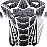 2008 cbr1000rr engine cover - 3D 24-Piece Customize Fuel Tank Pad Decal / Sticker Perforated Black + Chromed Black