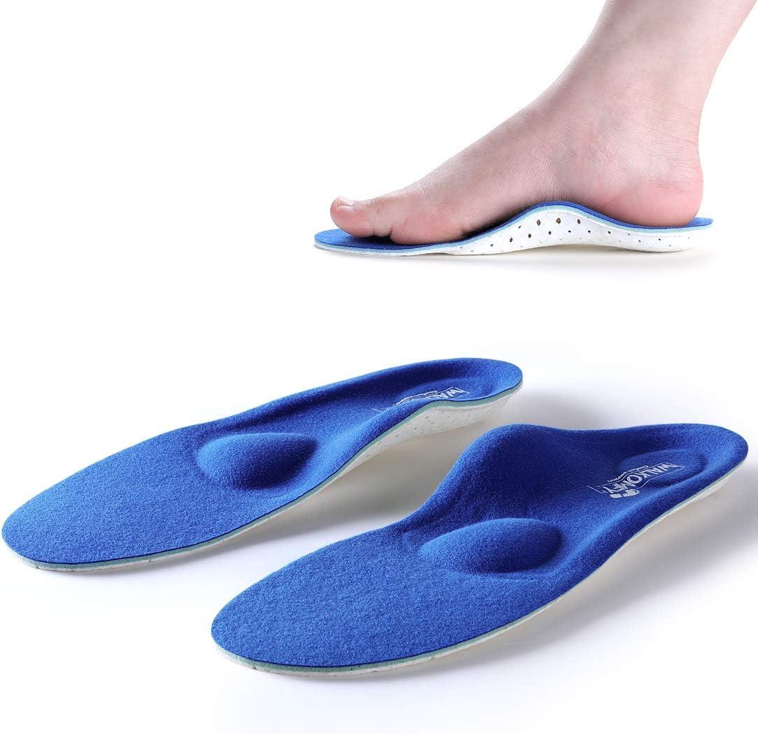 Walkomfy Plantillas Ortopedicas para Hombre y Mujer, Memory Foam Plantillas para Zapatos, para aliviar la Fascitis Plantar, Supinador, Pie Cavo, Pies Planos, Metatarsalgia, Dolor de Talón