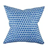 Vesper Lane in My Own Style Sea Polka Dot Designer Pillow Throw, 20'' x 20'', Blue Sea Polka Dot