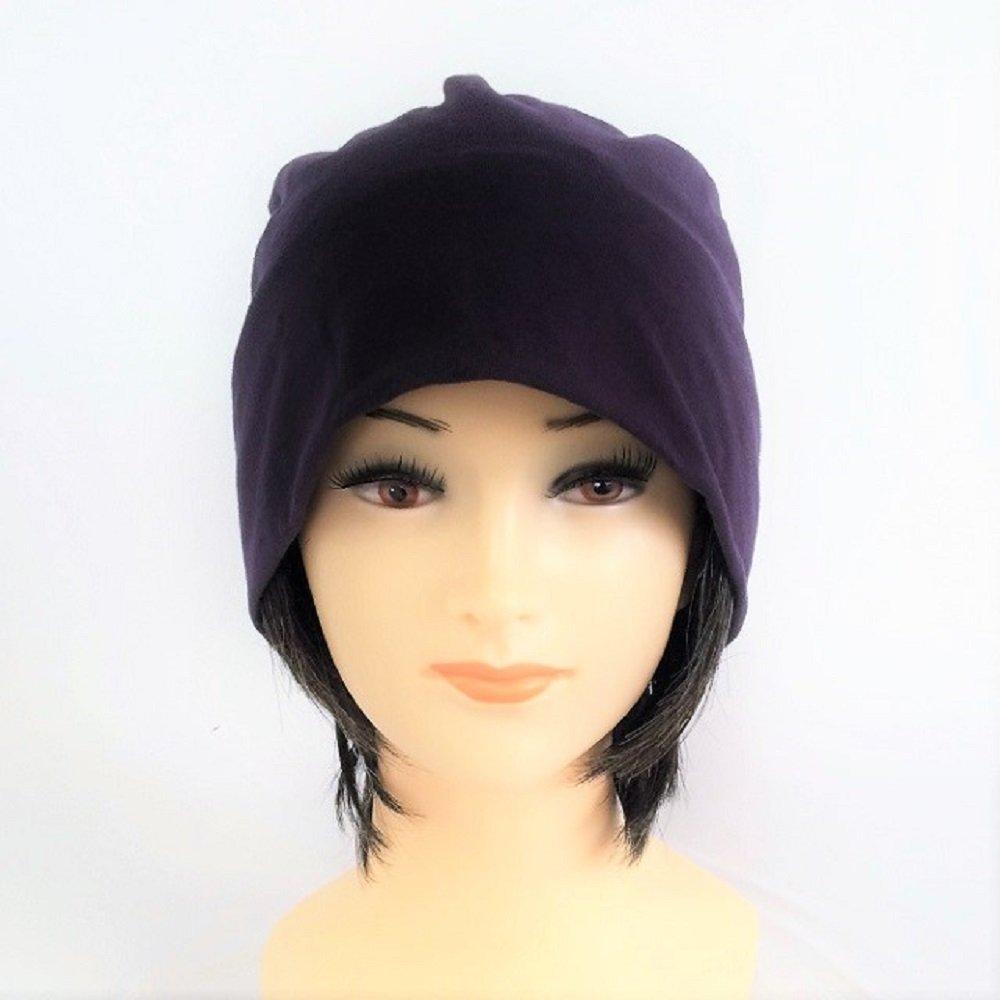 【抗がん剤治療】【毛付き帽子】 ショート白髪20%入りwig付き 薄手ニット帽子(裏シルク)フリー Cheemo Hat B01JCKHO8Y  チャコール