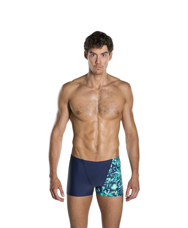 Allover V Jammer i.e Jammer Model - Bañador deportivo para hombre, color Azul marino y verde, tamaño 38