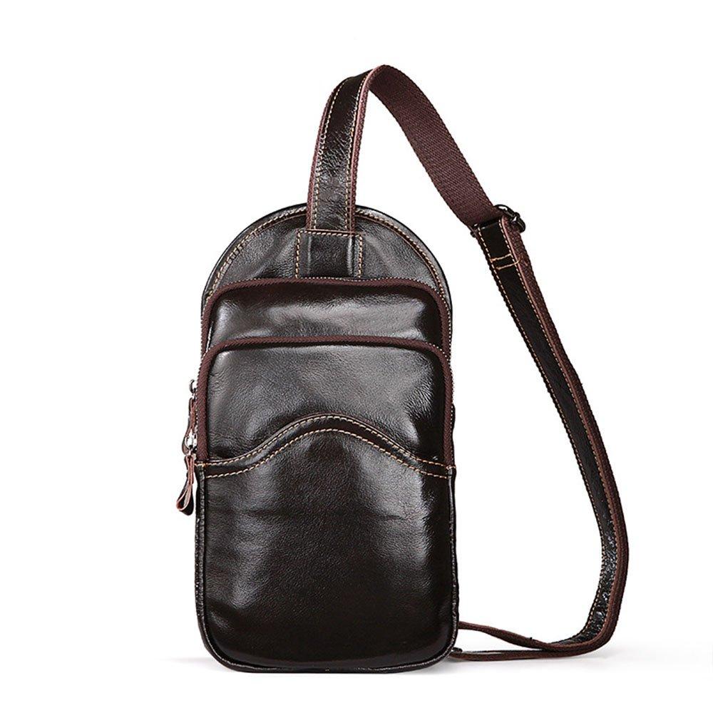 Liuxiaoqing Herren-Stil Brusttasche Ledertasche Portable Umhängetasche Umhängetasche Geschäft Casual Multifunktions-Reise-Aufbewahrungstasche