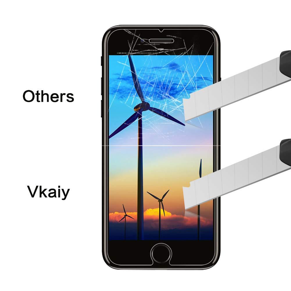 Protector de Pantalla iPhone 7 Plus iPhone 8 Plus, Vkaiy Protector Pantalla Para iPhone 7 Plus iPhone 8 Plus, 3D Protectora Completo, Dureza 9H, Anti ...