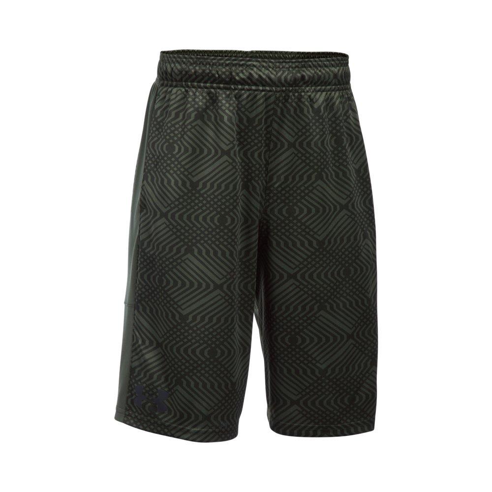 Under Armour Kids Boy's Instinct Printed Shorts (Big Kids) Downtown Green/Downtown Green Shorts
