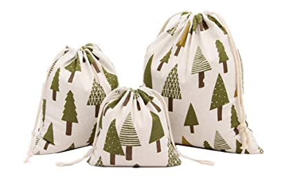 5pcs linen jute christmas tree bags with drawstring gift bags storage bags s - Christmas Tree Bags Amazon