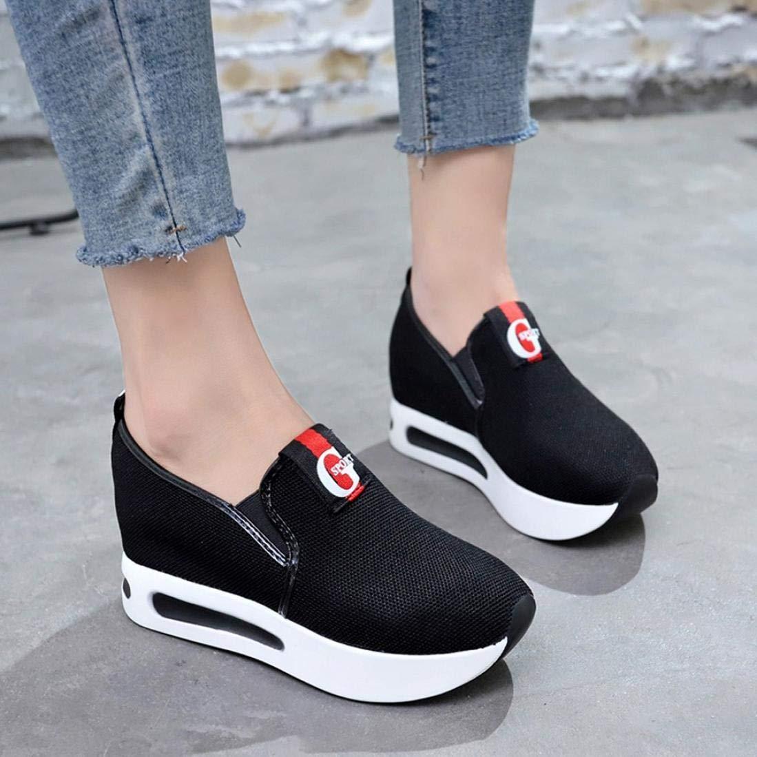 Covermason Zapatos Acelerar los zapatos, ocasionales de la plataforma de las mujeres zapatos Pendiente de malla respirable gruesa: Amazon.es: Ropa y ...
