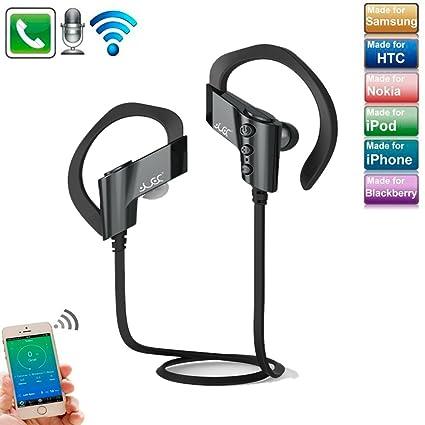 TechCode Sport estéreo Bluetooth auricular S-501 de oído impermeable Sweatproof auriculares inalámbricos con micrófono
