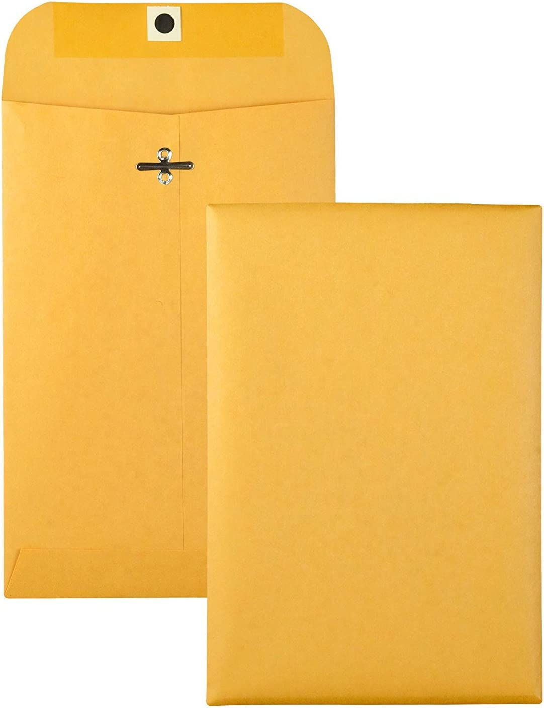 Brown Kraft Catalog Clasp Envelopes with Clasp Closure & Gummed Seal, 28lb Heavyweight Paper Envelopes, Great for Filing, Storing Or Mailing Documents, 25 Envelopes (10 x 13 inches) : Office Products