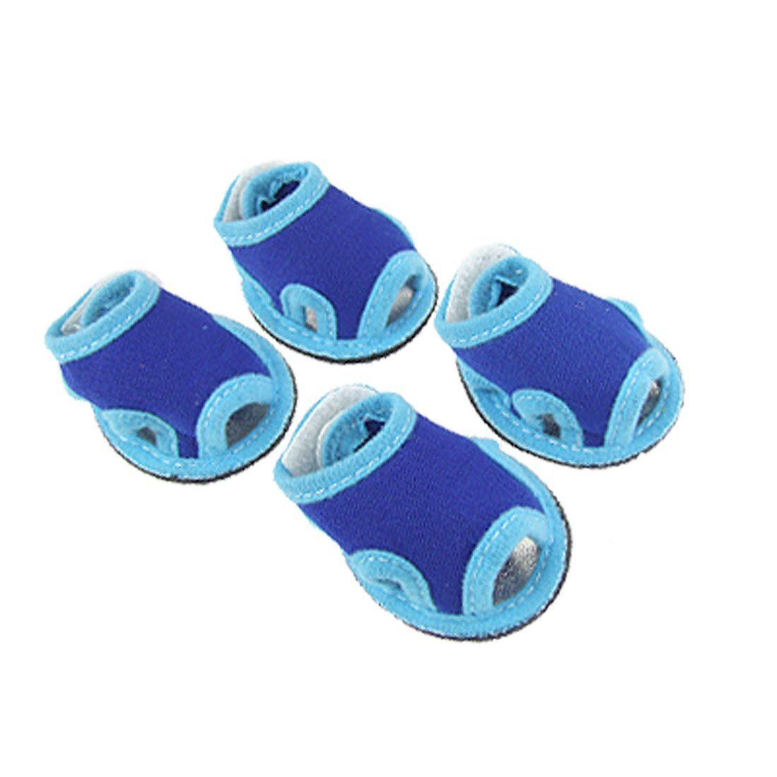 1Pc 4 x Pet Dog Puppy Sandals bluee shoes Sz 2 for Outdoor Walking