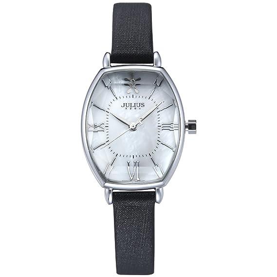 6a9e4a1b18a2 Julius relojes mujer Fashion reloj 2017 primavera marca lujo Crystal  Brillante Gafas Fashion correa de piel reloj de cuarzo ja-920  Amazon.es   Relojes