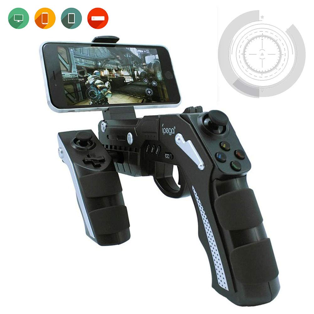 DUCKTOYS AR game controller gun, somatosensory game controller with vibration function gamepad, compatible with Android/iOS/PC/iPad etc