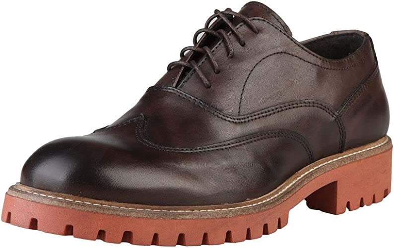 TALLA 42 EU. Made In Italia Shoes, Zapatos de Cordones Oxford para Hombre