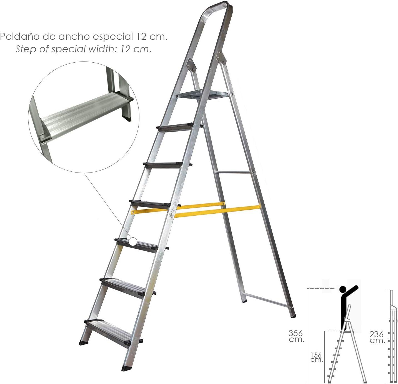 Escalera Aluminio Maurer Domestica Profesional. En131 7 Peldaños: Amazon.es: Hogar