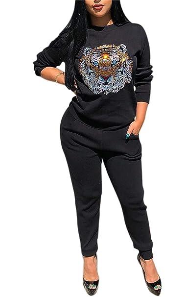 Amazon.com: Conjunto de 2 trajes de mujer con lentejuelas ...