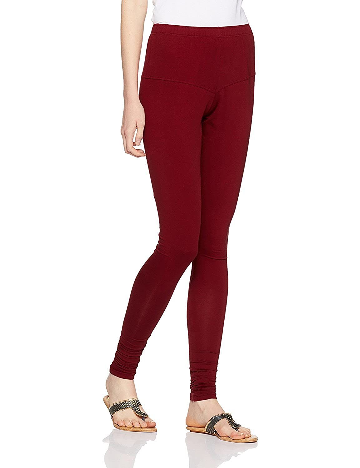 LYRA Women's Maroon Churidar Leggings