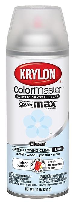 Krylon 51313 Satin Finish Crystal Clear Interior And Exterior Top Coat 11 Oz Aerosol