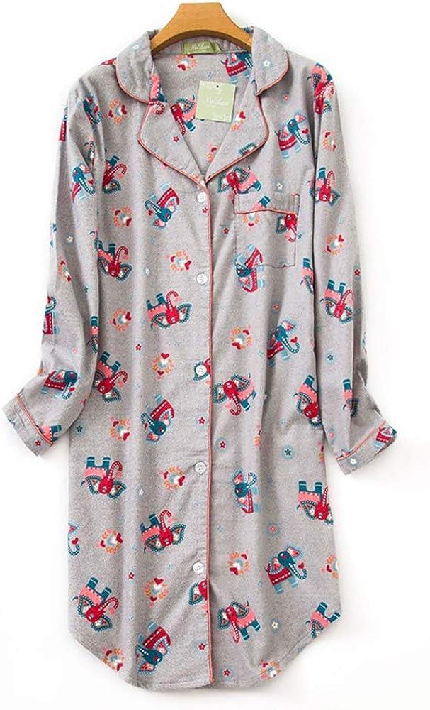 Pijama Mujer Algodon Invierno Manga Larga Ropa de Dormir Tallas ...