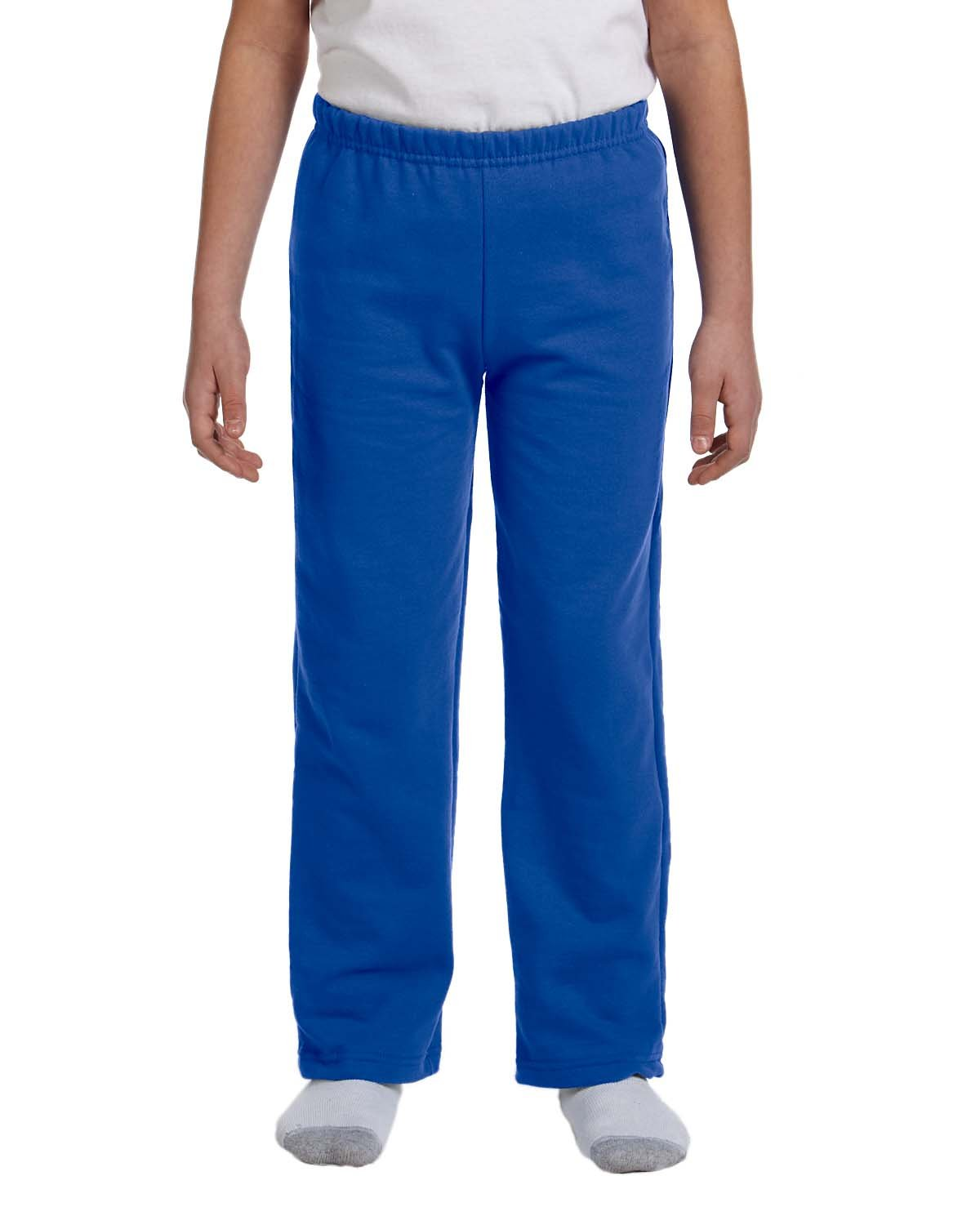 Gildan Boys 7.75 Oz. Heavy Blend 50/50 Sweatpants (G184B) -Royal -M-12PK
