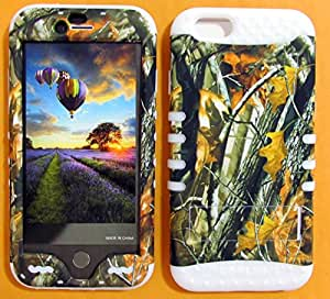 APPLE IPHONE 6 CASE HUNTER FOREST CAMO BIG BRANCH WH-WFL027 HEAVY DUTY HIGH IMPACT HYBRID COVER WHITE SILICONE SKIN