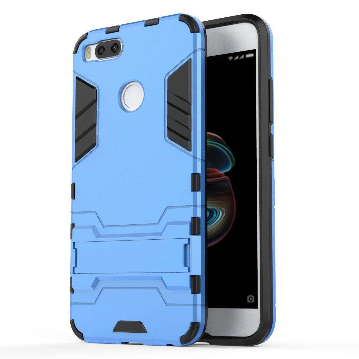 Ougger Fundas para Xiaomi Mi A1 5X Suave TPU Ligero Rubber 2in1 Back Gear Rear Oro Carcasa Cover Soporte de v/ídeo Protector Extrema Absorci/ón de Impacto Armor Cover Duro Pl/ástico