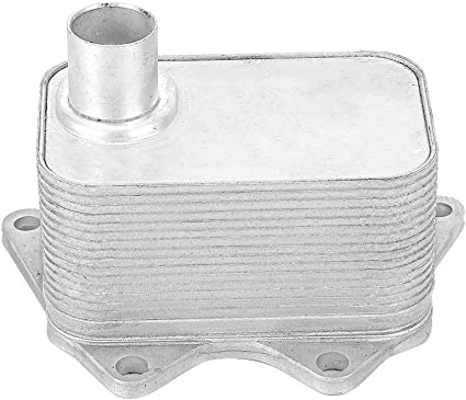 Gorgeri Caja de cambios del enfriador de aceite, Radiador de la caja de cambios del enfriador de aceite del motor de transmisión 06J 117 021 D Se adapta a A3 A4 Q5: